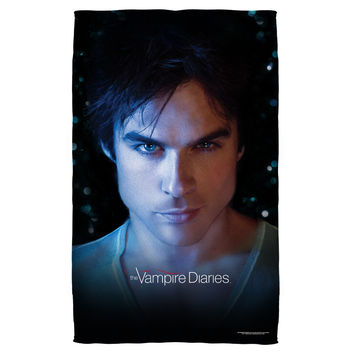 VAMPIRE DIARIES/DAMON EYES-BEACH TOWEL-WHITE-36x58