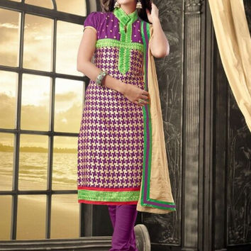 Chanderi Embroidered Suit 006