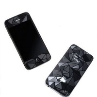 3D Diamond Pattern Matte Anti Finger Anti Glare Screen Protector Guard Film for iPhone 4 4S (Front and Back)