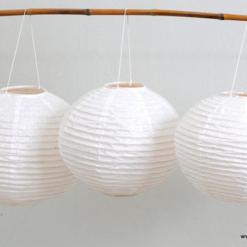 17 inch White mulberry paper lantern ball wedding decoration handmade living room decoration hanging lamp