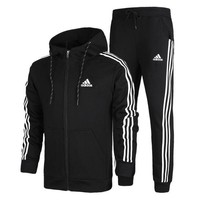 VONL8T Uunisex Adidas Casual Cotton Long Sleeve Plus Size Sportswear Set [103847755788]