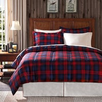 Premier Comfort Ashland Plaid Twin-size 2-piece Down Alternative Comforter Set | Overstock.com Shopping - The Best Deals on Comforter Sets