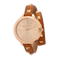 Michael Kors Runway Rose Dial Brown Leather Ladies Watch MK2299