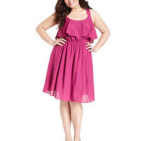 Love Squared Plus Size Dress, Sleeveless Ruffle Cutout-Back - Junior Plus Sizes - Plus Sizes - Macy's