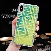 FENDI Newest Fashionable Personality Mobile Phone Cover Case For iphone 6 6s 6plus 6s-plus 7 7plus 8 8plus X XSMax XR Green