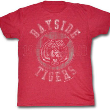 Saved By the Bell Bayside Tigers Adult Cherry Tri-blend Red T-Shirt