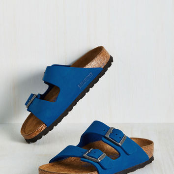 Strappy Camper Sandal in Cobalt - Narrow | Mod Retro Vintage Sandals | ModCloth.com