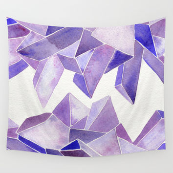 Amethyst Watercolor Wall Tapestry by Cat Coquillette