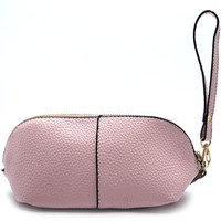 Leather Wristlet Pouch Bag