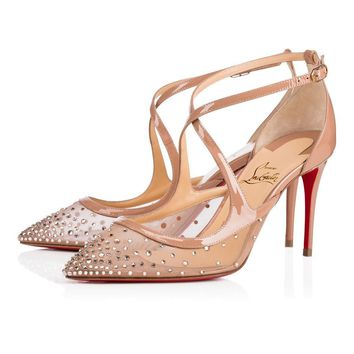 Christian Louboutin Cl Twistissima Strass Version Light Silk Strass 18s Bridal 1180531f065 -