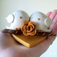 Tweets in Love CUSTOM Birds Wedding Anniversary by 3moonbabies