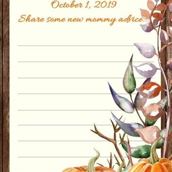 10 Fall Baby or Bridal Shower Advice Cards