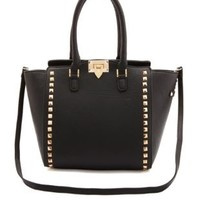 Studded Structured Tote Bag by Charlotte Russe