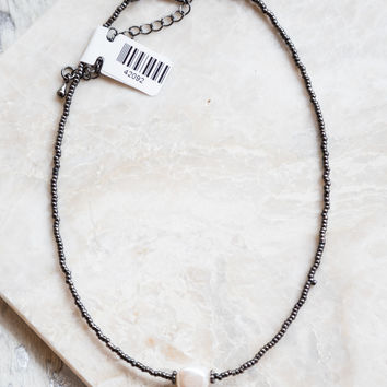 Pearl Mini Choker, Black
