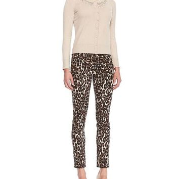 pre-loved kate spade autumn broome st. leopard-print denim