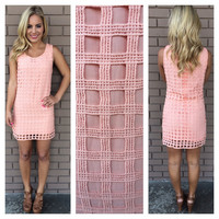 Coral Hooligan Squared Dress
