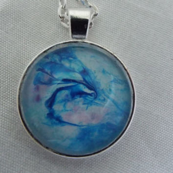 Unique Hand Crafted Blue Hornet Pendant Necklace   FREE SHIPPING