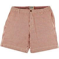 "7"" Seersucker Walking Shorts in Crimson by Olde School Brand - FINAL SALE"