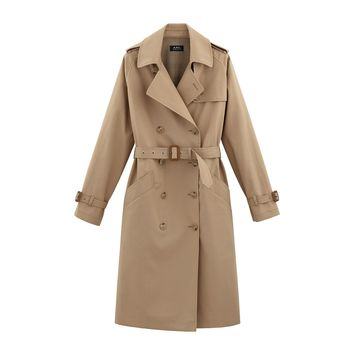 A.P.C. Julianne trench coat | usonline.apc.fr | free shipping