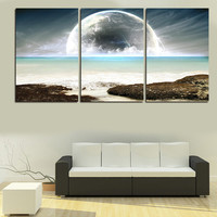 3 Pic Wall Art Landscape Canvas Paintings Home Decor Ocean Scenery Pictures Quality Canvas On Wall Cuadros Decoracion Gift