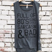 80's Song Lyrics Tank