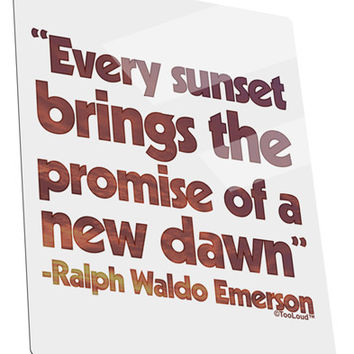 Emerson Sunset Quote Metal Panel Wall Art Portrait - Choose Size