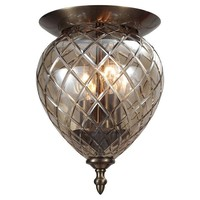 Avery 2-Light Flush Mount, BrassCRYSTORAMA
