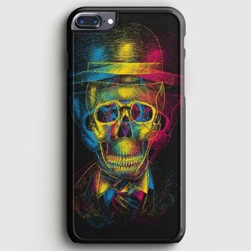 Overlap Skull In Hat iPhone 8 Plus Case