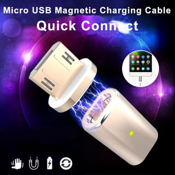 Micro USB Magnetic Adapter For Charger Cable Metal Plug Magnetic changing cable For Android Phones For Samsung For LG