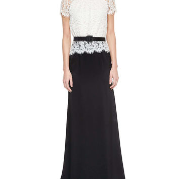 Scalloped Plume Lace & Satin