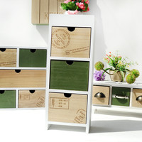 Wooden Green Storage Box Decoration Accessory Box [6282992006]