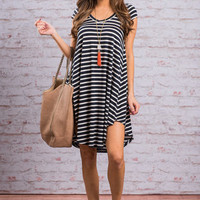 Travel Time Dress, Navy
