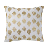 INK+IVY Nadia Dot  Cotton Dec Pillow w/ Embroidery, Gold
