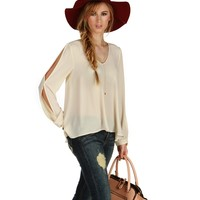 Ivory Daydreamer Chiffon Top