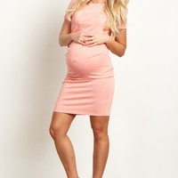 Coral-Short-Sleeve-Fitted-Dress