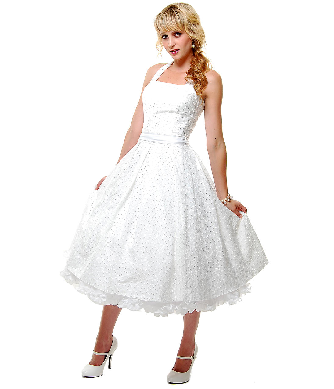 Best seller unique vintage off white from unique vintage for White cotton eyelet wedding dress