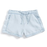 Girl's Tractr 'Sophi' Chambray Shorts,