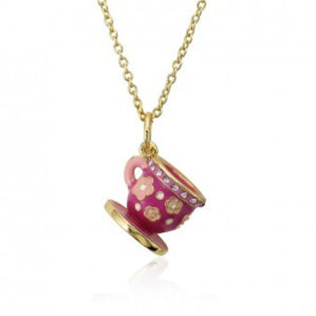 Little Necklace by Molly Glitz Tea Cup Necklace