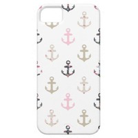 Hello Sailor! Retro Vintage Girly Nautical Anchors iPhone 5 Case from Zazzle.com