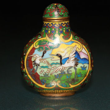 A Qing dynast Chinese cloisonne snuff bottle CC0306