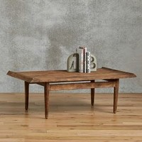 Burnished Wood Coffee Table by Anthropologie in Brown Size: