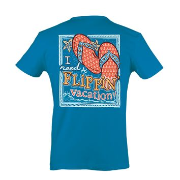 Itsa girl Thing Funny I Need a Flippin Vacation Flip Flops Southern Bright Girlie T-Shirt