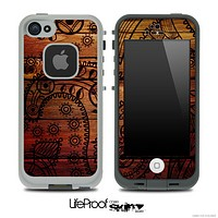 Wooden Floral Skin for the iPhone 5 or 4/4s LifeProof Case