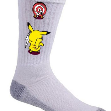 'Practice Time' Monster Anime Parody Throwing Lightning at Target - Crew Socks