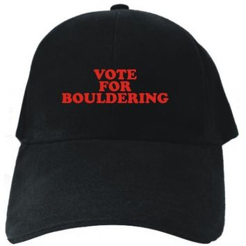 VOTE FOR Bouldering Black Baseball Cap Unisex