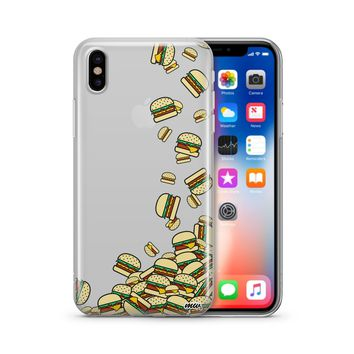 Burger Stack - Clear TPU Case Cover