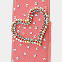 Heart of Pearls & Crystals iPhone 5 Case