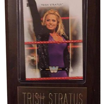 "Trish Stratus 4"" x 6"" WWE Women's Legend Wrestling Plaque"