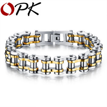 Biker 316L Stainless Steel Mens Bracelet Fashion Sports Jewelry Bike Bicycle Chain Link Bracelet Casual Jewellery