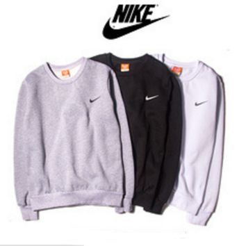 Tide brand round - necked printing sets of long - sleeved sweater students long - sleeved sports tide autumn and winter clothing sweater
